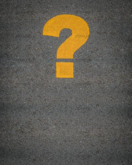 Question Mark Road Markings