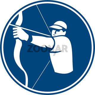 Archer Bow Arrow Circle Icon