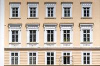 Baroque house facade in Salzburg