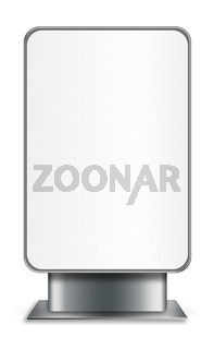 Vertical billboard isolated on white background.