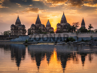 Royal cenotaphs of Orchha, Madhya Pradesh, India