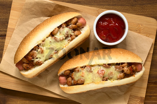 Baked Chili Hot Dog