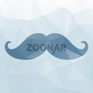 Mustache triangles background