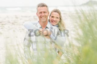 Smiling couple enjoying time together
