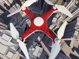 Drone Flying for Aerial Photography or Video Shooting