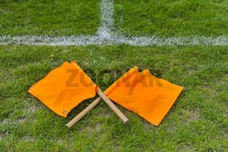 Flaggen für die Linienrichter