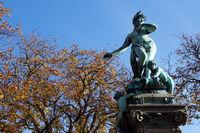 The famous Galatea fountain in Stuttgart - Trees