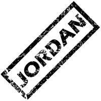 JORDAN rubber stamp