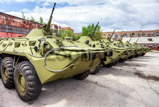 Russian Army BTR-80 wheeled armoured vehicle personnel carrier