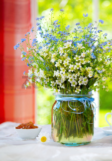 Spring wild flowers  bouquet .