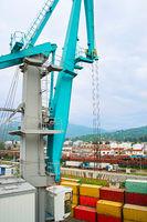Crane in industrial port