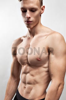 Man with muscular torso