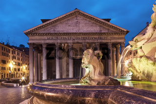 Pantheon at twilight