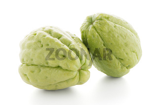 Closeup of chayote