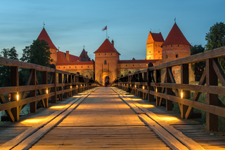 Trakai Island Castle in Lithuania next to Vilnius