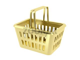 Gold shopping basket