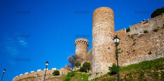 Tossa de Mar, Spain, Watchtower of the medieval fortress Vila Vella