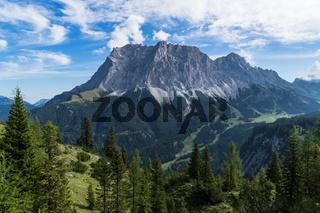 Südansicht der Zugspitze