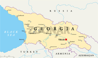 Georgien politische Landkarte