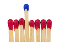 Matches - leadership or inspiration concept