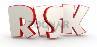 Risk word with white background