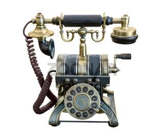 phone, retro, bronze