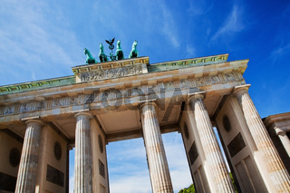 Brandenburg Gate. German Brandenburger Tor in Berlin