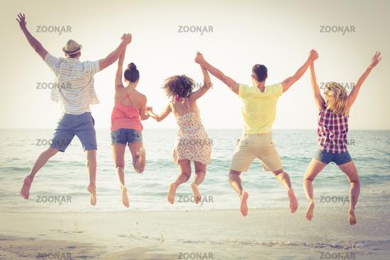 group of friends having fun