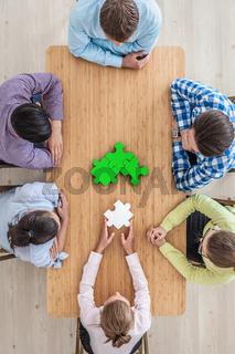 Corporate teamwork concept