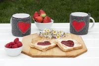 romantic breakfast in a garden