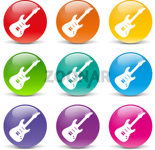 Vector guitar icons