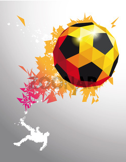 fussball poster ball vector