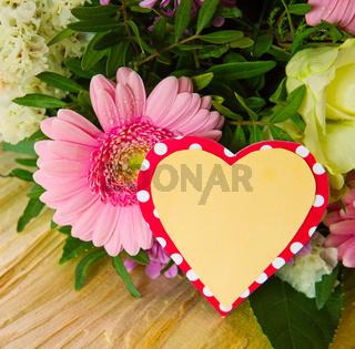 Colorful flowers bouquet.