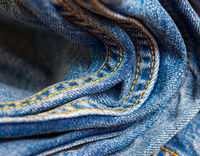 blue jeans double seams