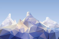 low poly mountain scenery