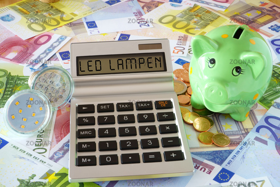 Saving energy with LED lamps and Illuminant