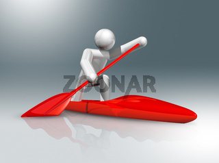 Canoe Sprint 3D symbol, Olympic sports