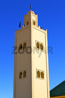 the history  symbol  in morocco and  blue    sky
