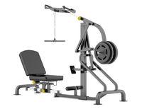 lever gym machine isolated on white background
