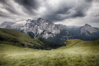 Marmolada mountains ridge