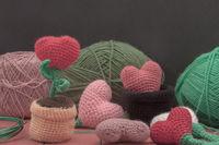 Valentine crochet decorations crochet hearts