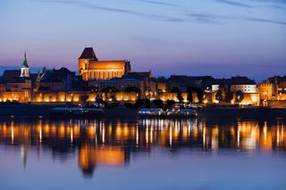 Torun Old Town Skyline at Twilight