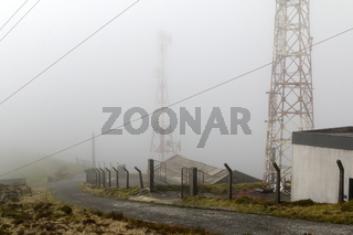 Lattice masts on Pico do Barrosa, Sao Miguel, Azores