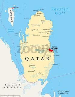 Katar Landkarte