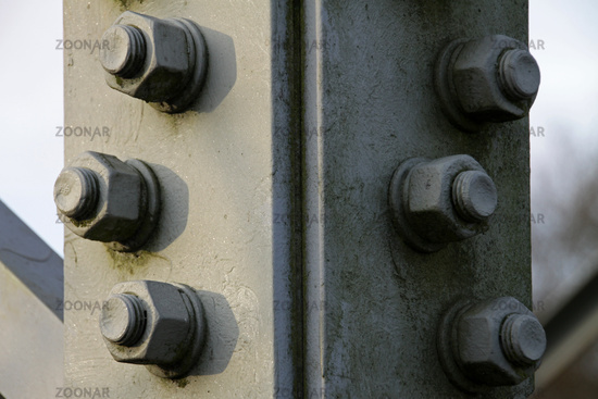 Screws of a power pole