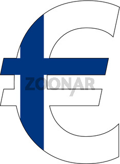 euro with flag of finland