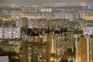 City skyline.