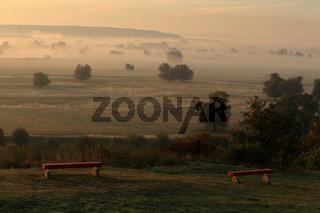 Sonnenaufgang über dem Odertal, Uckermak