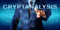 Cryptanalyst Touching CRYPTANALYSIS Onscreen