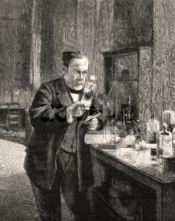 Louis Pasteur, 1822-1895, a French chemist and microbiologist